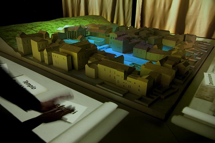 Plastico animato del Parco Archeologico di Brescia