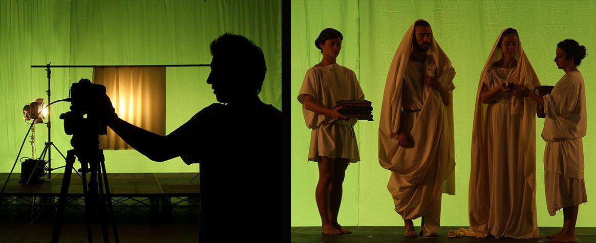 Green screen e riprese di antichi romani