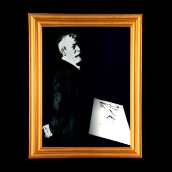Ritratto incorniciato di Alfredo d'Andrade
