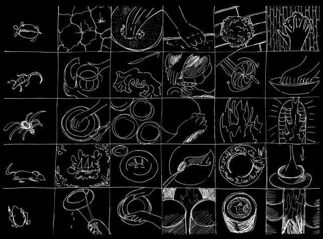 Disegni per il progetto del Museo della ceramica di Mondovì