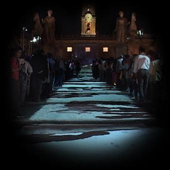 Videoproiezione al Campidoglio durante la Notte Bianca