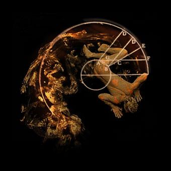 """Proiezione per la scena di """"Galileo. Studi per l'Inferno"""""""