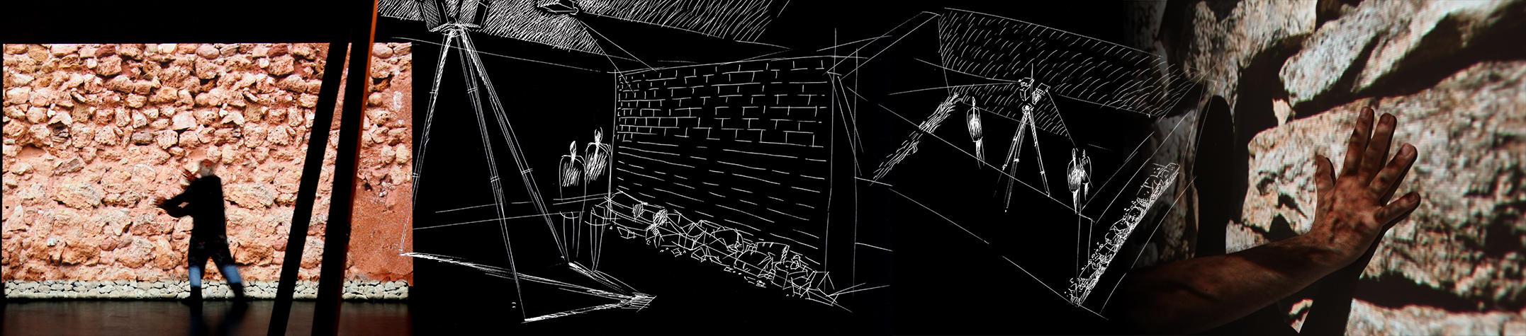 Progetto per le pareti interattive di Rivelazioni Mediterraneo a Madrid, di Studio Azzurro
