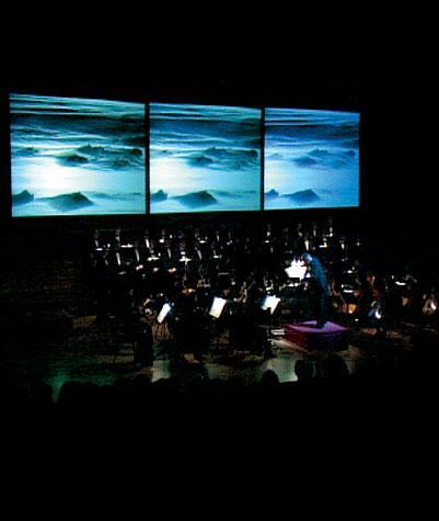 Trittico dei Canti rocciosi di Studio Azzurro, orchestra e Dolomiti
