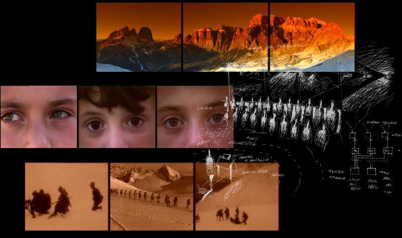 Trittico dei Canti rocciosi - Dolomiti, sguardi e disegno del progetto