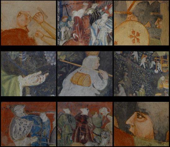 Trittico dei Canti rocciosi - scene da affreschi