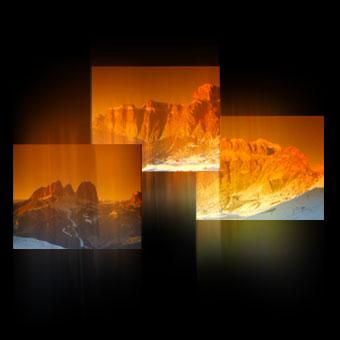 Trittico video con immagini delle Dolomiti