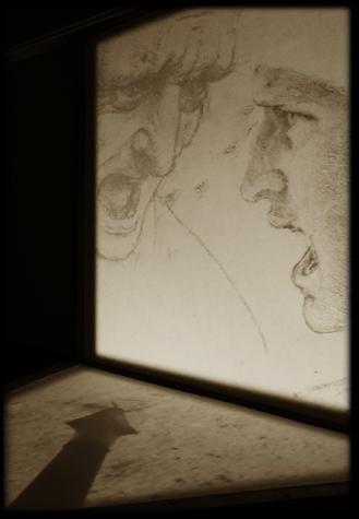 Disegni di volto di Leonardo da Vinci
